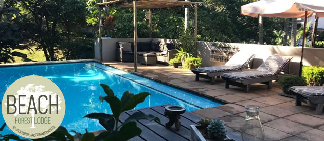 beach forest lodge, ballito, durban, self catering, accommodation, lodge, sea view, beach front accommodation, kwazulu-natal