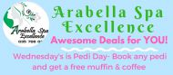 WEDNESDAY'S PEDI DAY AT ARABELLA SPA EXCELLENCE